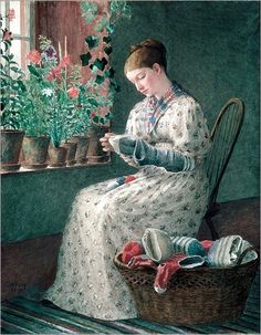 Enoch Wood Perry_a monthy´s darning