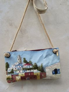 Image of ONE OF A KIND PAINTING BAG - Zanzibar (free shipping)