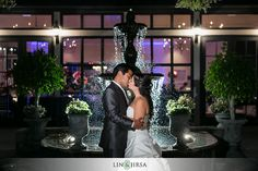 Summit House Wedding Fullerton   Kevin and Krystinanotice the flowers on the fountain