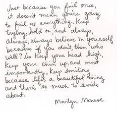 Marilyn Monroe quote :)