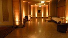 Wedding lighting at Greysolon Ballroom in Duluth, MN by Duluth Event Lighting. Up lighting in amber. Lighting décor, bridal lights, wedding ...
