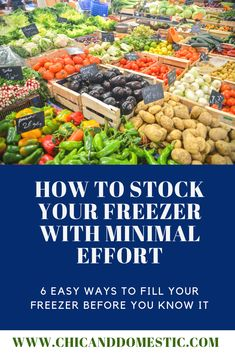 Stocking your freezer doesn't have to be a long and thought out process. Check out these 6 easy options to get yourself started and on your way. Frozen Vegetables, Fresh Fruits And Vegetables, Fresh Herbs, Frugal Tips, Frugal Meals, Freezer Meals, Food Waste, Smoothie Bowl, Mom Blogs
