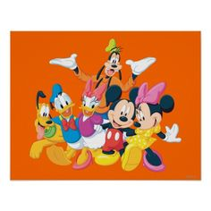 Mickey Mouse & Friends 4 Posters #mickeymouse