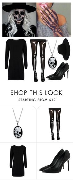 """""""Skeleton Halloween Costume"""" by minja93 ❤ liked on Polyvore featuring Bling Jewelry, Cocoa Cashmere, Louis Vuitton and Off-White"""