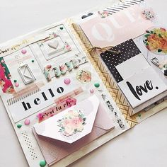 SNAIL MAIL FLIP BOOK - Progress on my desk of a special mail folder. Using up some of the C'est La Vie collection. It is SOOOO pretty. I shopped at @sassyscrappers