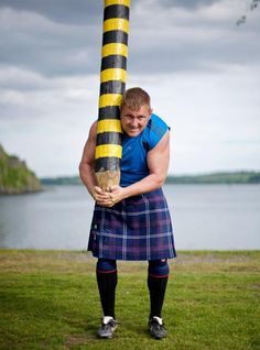 Picture of a highland games athlete, Scotland