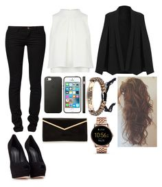 """""""Sans titre #1280"""" by rachkinou ❤ liked on Polyvore featuring Giuseppe Zanotti, ONLY and FOSSIL"""