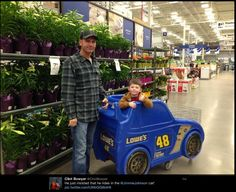 """He just insisted that he rides in the Jimmie Johnson car!""   Clint Bowyer"