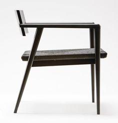 Beautiful geometric symmetry I interior design I chair I wood I hospitality design I furniture design