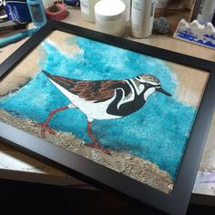 Framed and done!  What a relief! #art #birds #painting #mixedmedia