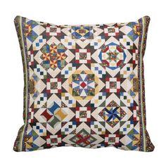 Mosaic Pattern Throw Pillow Pillows