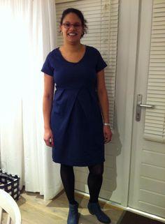 maxima jurk knipmode gecombineerd met andere top