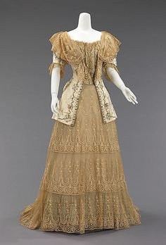 Victorian Era Clothing: 1837-1901 / 1895 French evening dress
