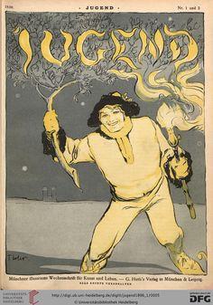 Jugend: Münchner illustrierte Wochenschrift für Kunst und Leben (1.1896, Band 1 (Nr. 1-26)) (G 5442-10 Folio RES)
