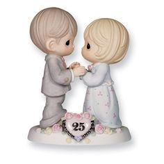Precious Moments 25th Anniversary Figurine - http://www.preciousmomentsfigurines.org/anniversary/precious-moments-25th-anniversary-figurine-2/
