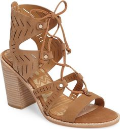 date night with romper - Main Image - Dolce Vita Luci Ghillie Lace Sandal (Women)