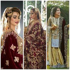 Trending on my Timeline™ 'Red Velvet Bridal Shawls.' As seen on #mahnoorarbab, #fatimajosh and #mehrmurtaza.