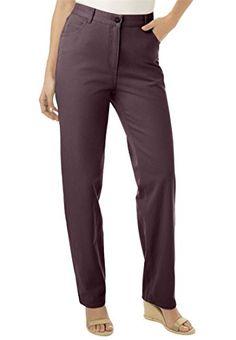 Women's Plus Size Back Elastic 100 Cotton Jean