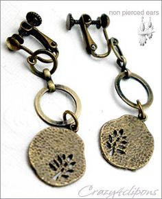 Autumn Antique Brass Earrings | Clip or Pierced  Everyone should have a pair of these.