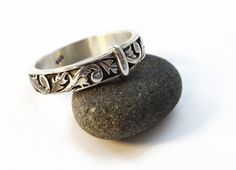 25% OFF  Thistle Band  Solid Sterling  by TESandNanosTreasures