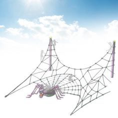 Playground climbing structure THE SPIDER'S WEB DYNAMO INDUSTRIES
