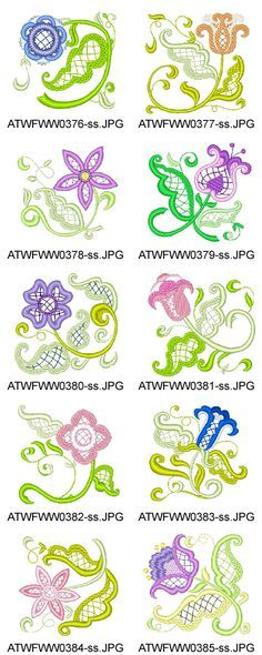 Jacobean-Florals Embroidery Designs