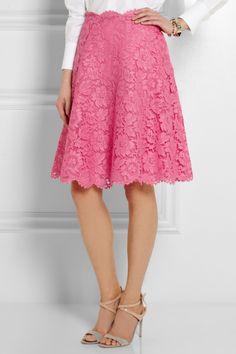 Valentino|Lace skirt|NET-A-PORTER.COM