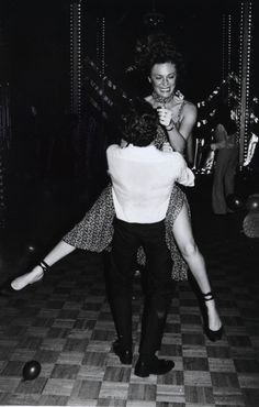 Jacqueline Bissett getting a lift at Studio 54, 1970's