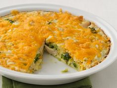Healthified Impossibly Easy Chicken 'n Broccoli Pie 81% less saturated fat and 38% fewer calories!
