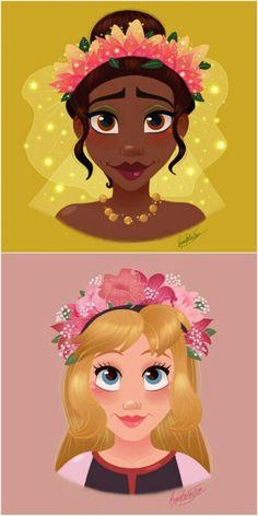Princesa Tiana e Princesa Eilonwy By Rocío