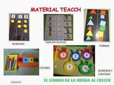 Cognición en una caja de zapatos: ideas TEACCH :El sonido de la hierba al crecer Preschool Math, Kindergarten Math, Maths, Teacch Material, Motor Activities, Activities For Kids, Self Help Skills, Pencil Toppers, Autism Resources