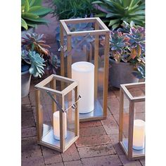Crosby Lanterns in Lighting, Candlelight   Crate and Barrel