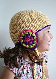 Crochet Pattern, winter warmer crochet earflap hat pattern, 5 sizes included 155 by Luz Patterns #crochetpattern #crochet