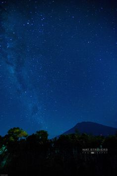 Milky way above Agung Mountain - Bali by Nathalie Stravers on 500px