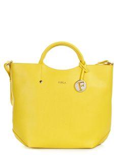 Yellow Furla bag
