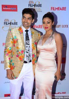 Gurmeet Choudhary wife Debina Bonnerjee Filmfare Style Awards 2015
