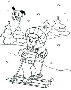 - Best Picture For Winter Sports Preschool art For Your Taste You are looking for something, and Coloring Rocks, Coloring Pages For Kids, Animal Coloring Pages, Colouring Pages, Winter Kids, Winter Sports, Hedgehog Craft, Winter Magic, Christmas Coloring Pages
