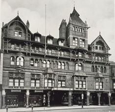 """The much-missed Watson Fothergill-designed Victorian masterpiece The Black Boy Hotel (now Primark) had guests that included Gregory Peck, Laurence Olivier and the Australian cricket team. It also got a mention in the original Colditz film Nottingham City, Interesting Buildings, Filming Locations, Black Boys, Old Buildings, Architecture Plan, Present Day, Eastern Europe, The Row"