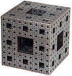 Menger sponge metal sculpture (Bathsheba Grossman)