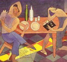 almada negreiros (Portugal)Almada Negreiros lendo Orpheu 2, colecção privada, Lisboa Sculpture, Gustav Klimt, Paint Designs, Art Forms, Design Art, Pop Art, Art Pieces, Fine Art, Gallery