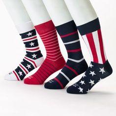 Funky Socks 4-pk. Americana Crew Socks - Men