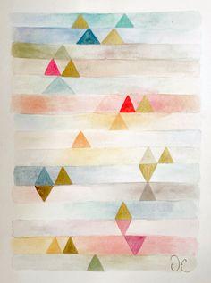 Contemporary Modern Art an Original watercolor por VictoriAtelier