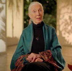 Jane Goodall nice shawl