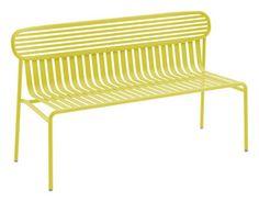 Banc avec dossier Week-End / L 121cm - Métal Ananas - Oxyo - Décoration et mobilier design avec Made in Design