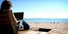 What does your #office look like? #Monday #MondayOffice #LifestyleDesign #Office365 #MondayMotivation #Beach #Ocean