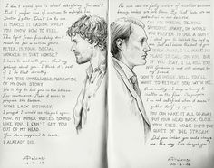 """Diptych"" I finally finished my tribute to Hannibal Writers. Just an excuse to write some random (wonderful) quotes from nbchannibal. Please, don't repost anywhere else! Just reblog, thank you! :)"