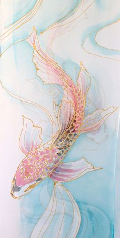 Items similar to Hand Painted Silk Shawl Pink Spring Bouquet Wedding Silk Wrap Shawl White Silk Shawl Silk Scarves Takuyo Made to Order 2272 inches. Koi Kunst, Butterfly Koi, Koi Art, Frida Art, Silk Art, Spring Bouquet, Painted Silk, Hand Painted, Fabric Painting