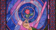 Beauty and the Beast Wallpaper Photo: Stained glass rose from Beauty and the Beast. This Photo was uploaded by GhodaLadki Enchanted Rose, Wallpaper Rosa, Cartoon Wallpaper, Beauty And The Beast Wallpaper, Wallpapers Tumblr, Desktop Wallpapers, Stained Glass Rose, Art Nouveau, Tattoo On