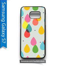 Colorful Rain Drops Print Samsung Galaxy S7 Case Cover
