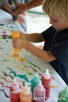 Homemade Paint {Kool Aid Puffy Paint} ~ Learn Play Imagine